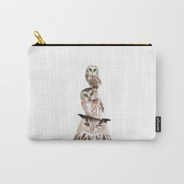 Stacked Owls Carry-All Pouch