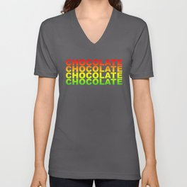 Beer Retro Rainbow Vintage Chocolate Gift Unisex V-Neck