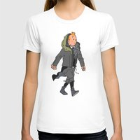 tintin T-shirts featuring Goth Ninja Tintin by Derek Boman
