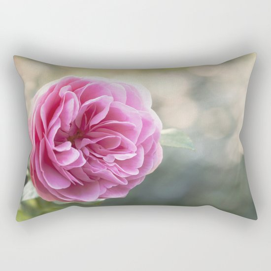 Lady in pink - Pink romantic rose at Backlight- roses flowers Rectangular Pillow