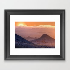 Mead Sunrise Framed Art Print