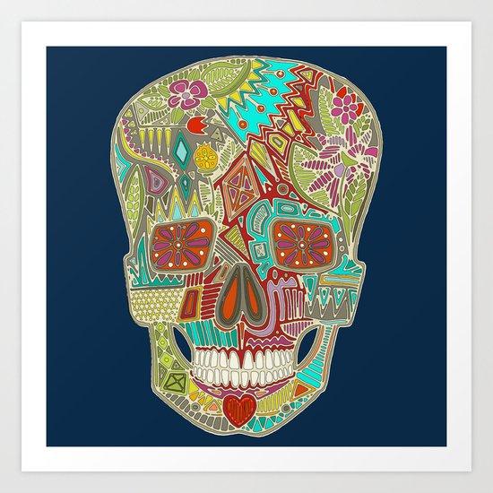 flower skull Art Print