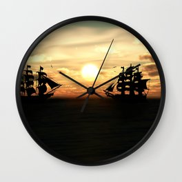 Seefahrt Begegnungen Wall Clock