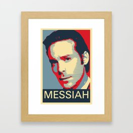 Baltar 'Messiah' design. Inspired by Battlestar Galactica. Framed Art Print