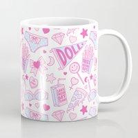 girl power Mugs featuring Girl Power by Jade Boylan
