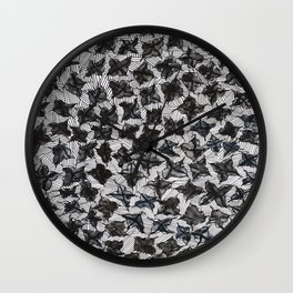 Flowers and Lines Wall Clock
