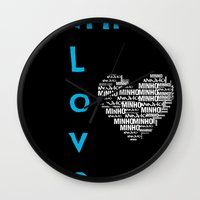 shinee Wall Clocks featuring Minho - SHINee Edited Made By Laylalu Celis by The LaylaWho Shop