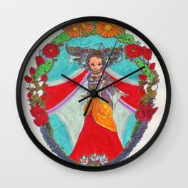 Queen of the Tundra Wall Clock