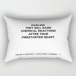 YOU'RE A SOLVENT, A SOLUTION, A SINNER  Rectangular Pillow