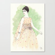 'Chloe' Watercolor Fashion Illustration Canvas Print