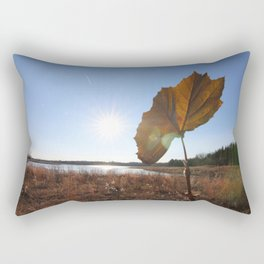 dead leaf upon a lake and the bright sun Rectangular Pillow