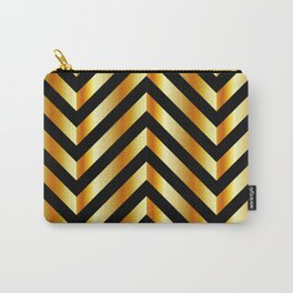 High grade raw material golden and black zigzag stripes Carry-All Pouch