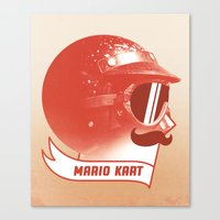 mario kart Canvas Prints featuring Mario Kart by Chase Kunz