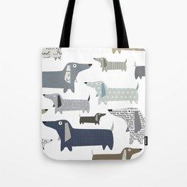 Wiener Dog Pattern Tote Bag