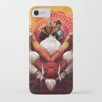 zuko iPhone & iPod Cases featuring Korra and Zuko by Meder Taab
