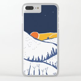 Mountain mysteries Clear iPhone Case