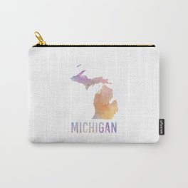 Watercolor State - MI Carry-All Pouch