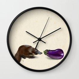 Platypus Makes a Friend Wall Clock