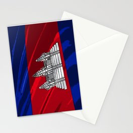 Cambodia Fancy Flag Stationery Cards