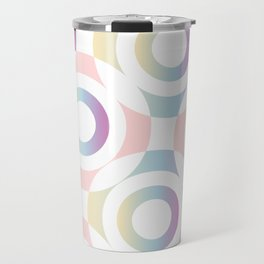 Circle composition in soft pastel colors Travel Mug