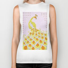 Peacock in Yellow Biker Tank
