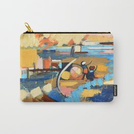 West End Blues Abstract Expressionism Painting Carry-All Pouch