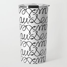 Sea Saw Pattern Travel Mug