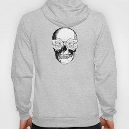 Skull and Roses | Skull and Flowers | Vintage Skull | Black and White | Hoody