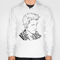 niall Hoodies featuring Typographic Niall by Ashley R. Guillory