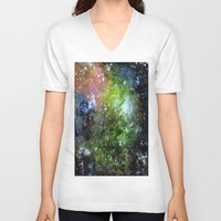 cosmic V-neck T-shirts featuring cosmic by Eliza L