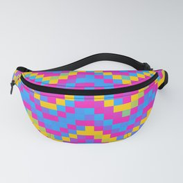 Pansexual Pride Pixellated Zigzag Stripes Fanny Pack