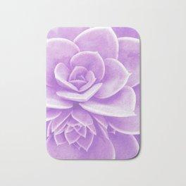 Purple Succulent Reflection Bath Mat