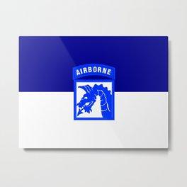 Flag of United States Army XVIII Airborne Corps Metal Print