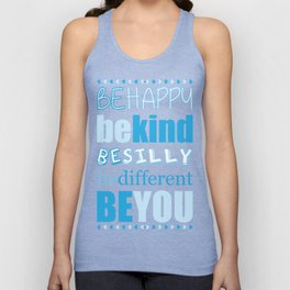 Be You - Blue Unisex Tank Top