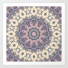 No. 20 Wisteria Arbor Way Regal Purple & Ivory Hugs and Kisses Mandala Art Print