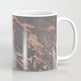 Modern Grey cement concrete on rose gold marble Coffee Mug