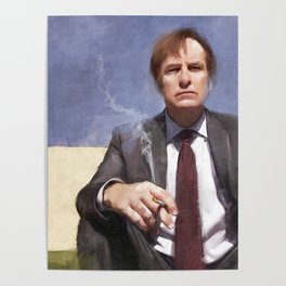 Jimmy McGill Smokes A Cigarette - Better Call Saul Poster