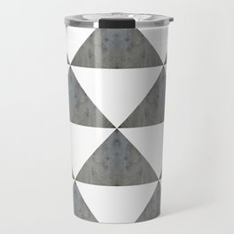 Cement White Triangles Travel Mug