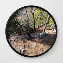 Climbing Up Sparrowhawk Mountain above the Illinois River,No. 5 of 8 Wall Clock