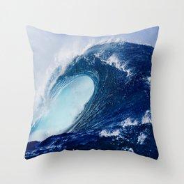 Big Blue Wave Throw Pillow