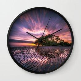 Nudgee Beach Sunrise Queensland Australia Wall Clock