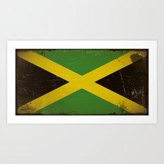 Vintage flag of Jamaica Art Print