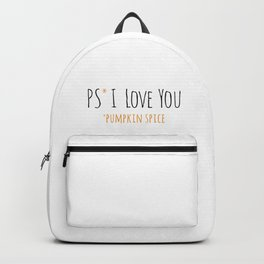 PS I Love you - Pumpkin Spice Backpack