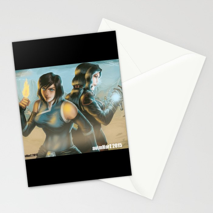 Korrasami Fanart Stationery Cards