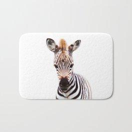 Baby Zebra, Baby Animals Art Prints by Synplus Bath Mat