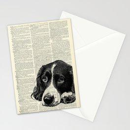 Vintage Springer Spaniel Stationery Cards