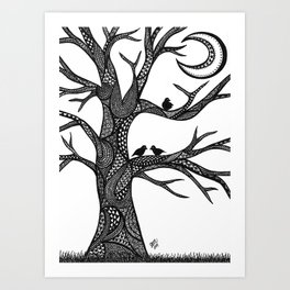 The Moon Tree Art Print