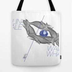 Wailin' Whale Vintage Design Tote Bag