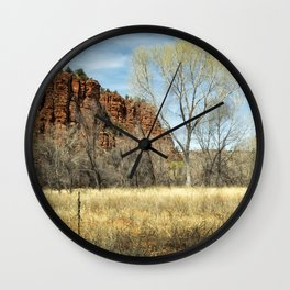 Red Rock State Park Meadow Wall Clock