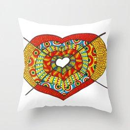 Stabbed heart Throw Pillow
